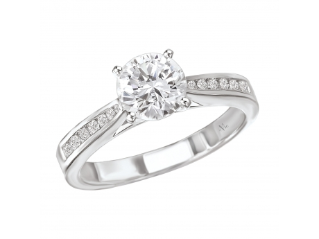 Channel set Engagement ring by La Vie